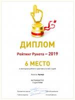 Рейтинг Рунета 2019. Icrea Дизайн студия